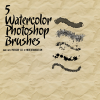 5 Watercolor Brushes by Miktik