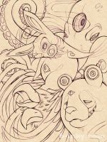 Spirit Animals -lines- by b-inky