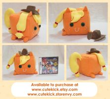 Applejack Companion Cube Pony by cutekick