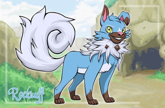 Rockruff Matias :collab: by AngelcatTCA