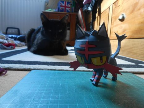 Litten Papercraft by gardevoir7