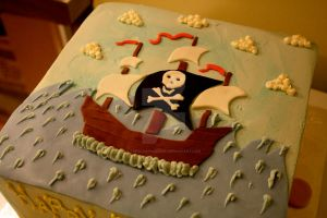 Pirate Cake by theSugarmonger