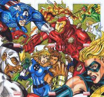 Marvel Universe Sketch Cards Civil War Puzzle by valiantonov