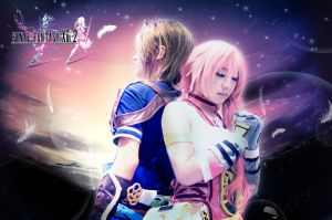 Final Fantasy XIII-2  Noel and Serah by crystalfirey