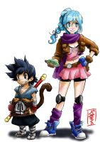 Goku and Bulma redesign by WhysoGurin