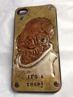 Star Wars Ackbar Leather Cell Phone Case by WorldofLeathercraft