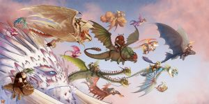 Dragons Parade! by Ticcy