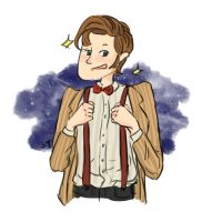 Eleventh Doctor Doodle by wafflesrules