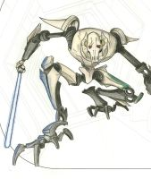 General Grievous (Colored Pencil) by thebmagic