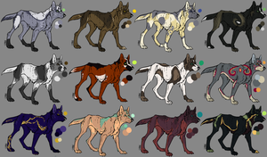 Canine Adoptables OTA Open by Born-Rose