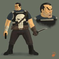 Punisher Redesign by dionbello
