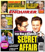National Enquirer - Iron Man and Hawkeye's SECRET by nottonyharrison