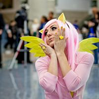 Fluttershy Cosplayer by jamestheawesomepeach
