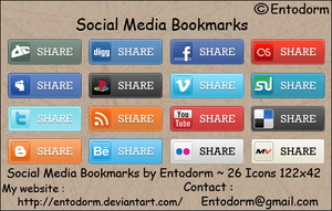 Social Media Bookmarks by Entodorm
