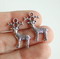 21 Deer Charms FOR SALE by MonsterBrandCrafts