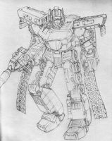 Optimus Prime Redesign by Zaku-sensei