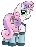 Sweetie Belle in socks by TheXIIILightning