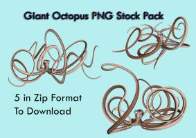Giant Octopus PNG Stock by Roys-Art