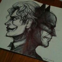 Joker and Batman by PsychedelicMind