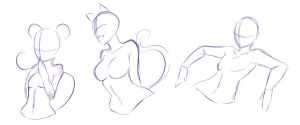 Random poses ... XD by rika-dono