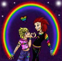 AkuRoku 100: RAINBOW by Blue-Dragon22
