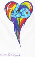 Rainbow Dash Heart! :D by Dolpgirl