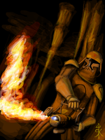 Clonetrooper with flamethrower by Raikoh-illust