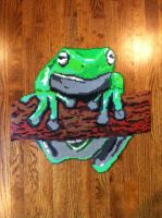 Whites Tree Frog beadsprite by FaerieInABottle