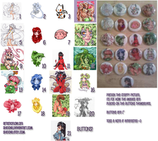Omg Buttons by shidonii