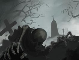 from the grave - speed painting by glasseye1