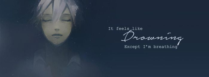 Facebook cover - Drowning by mark1805