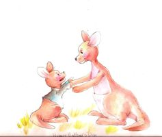 Kanga and Roo by ApplejackMan