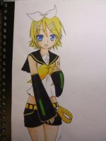 Kagamine Rin Lineart COLORED by neo123