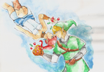 Skyward Sword Birthday Picture by OrangeQbe