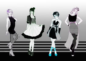 Striped Gals by TheeRoyalWe