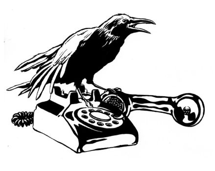 Crow and Telephone by mlauritano