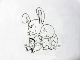 rabbit n turtle by anph93