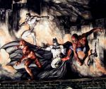 The Dark Knight meets The Marvel Knights. by Meador