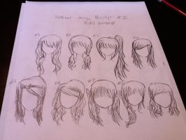 Girl Manga Hairstyles #1 by kirbystuffs1