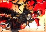Magma Wandering ACEO by Redwall151