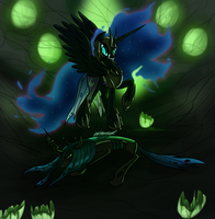Nightmare Moon vs Chrysalis by MyHysteria