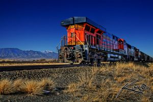 Train Rocky Mountain Colorado by CaptainKimo