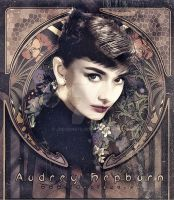 Audrey Hepburn - Art Nouveau by jdesigns79