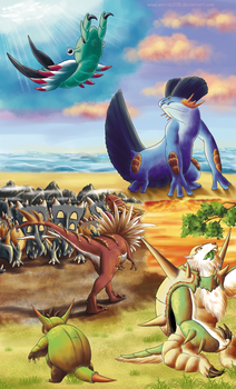 The wonderful Pokemon prehistory by Weirda-s-M-art