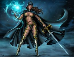 Magic warrior by Candra