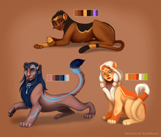 Sphinx Adoptables (SOLD OUT) by Rainroad