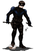 Nightwing Design - Colored by kyomusha