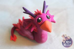Dragonbird Polymer clay sculpture by RaLaJessR
