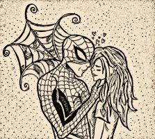 Spider-Man and Mary-jane in love... by pockacho