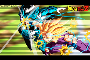gohan vs cell jr by DrabounZ